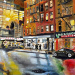 houston street, nyc, oil painting