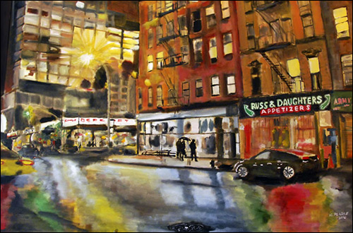 houston street oil painting