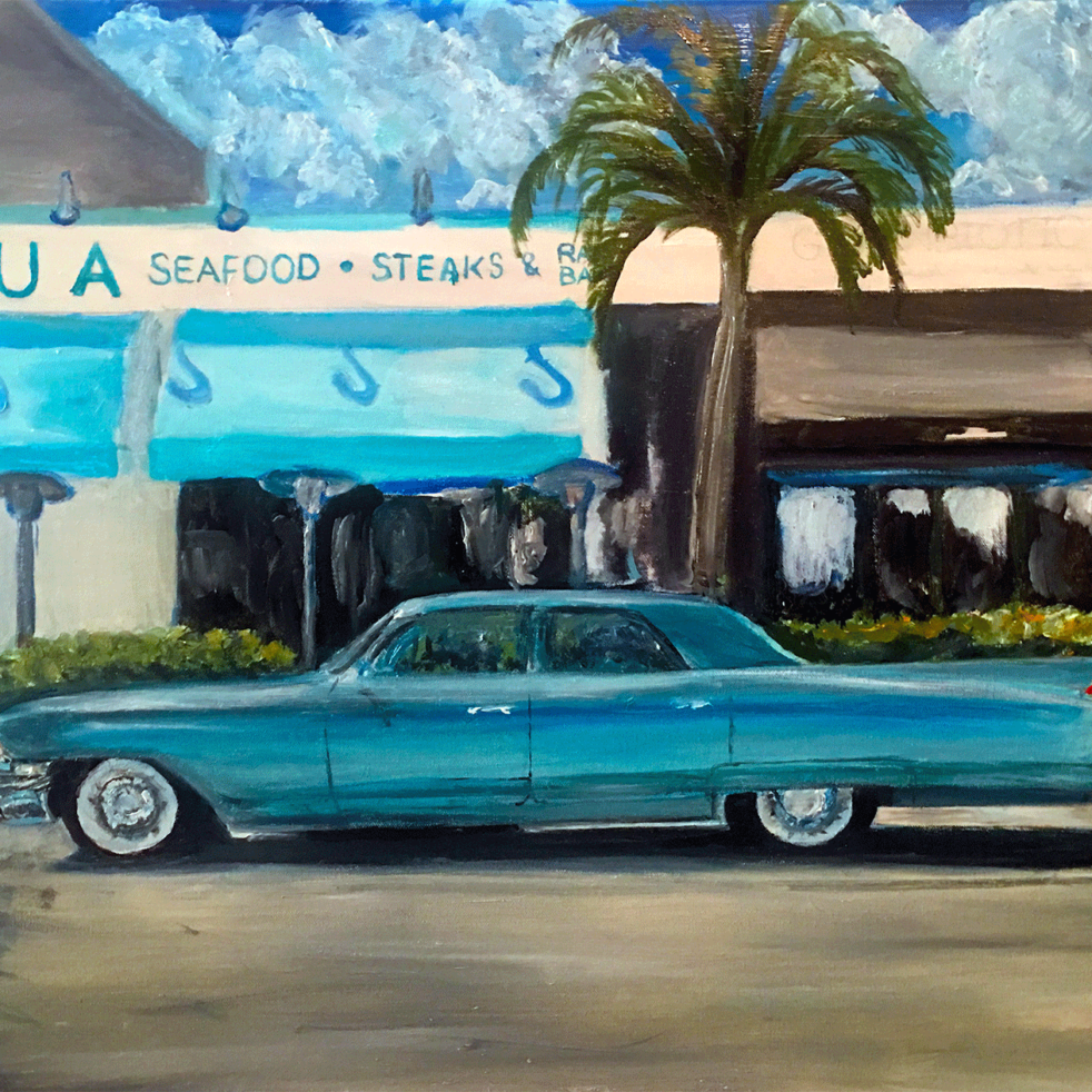 Naples, Florida Painting by Wayne Pearce