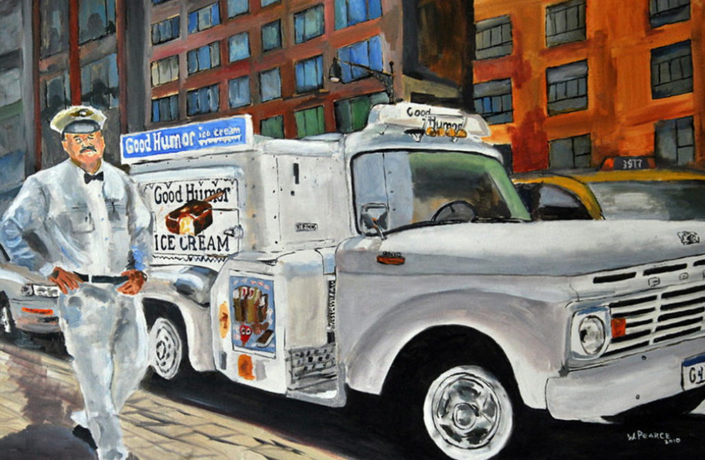 wayne pearce good humor man nyc painting