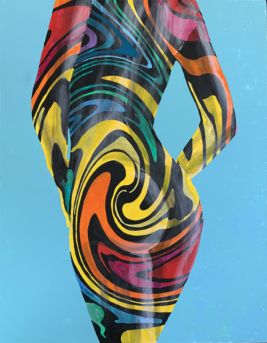 Bodypainting 2, Acrylic Painting on Canvas