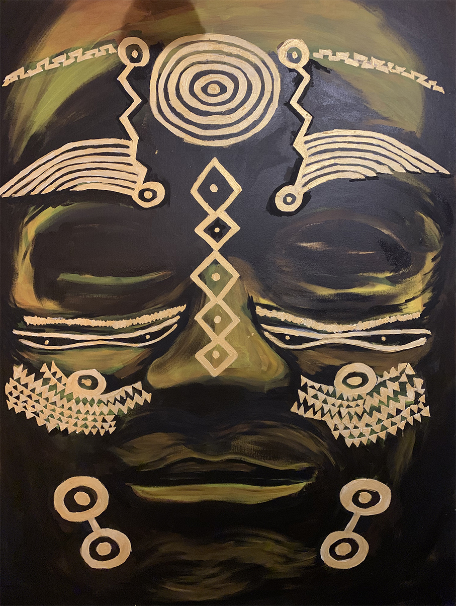 Acrylic painting on canvas for your home or office – Brown Mask