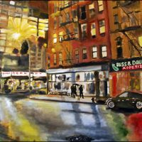 wayne pearce houston street oil painting