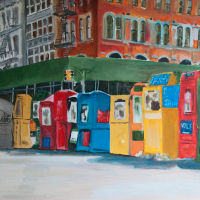 wayne pearce nyc oil painting street scene